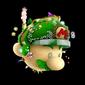 Mario, Lumas, Lubba, Yoshi, and the Toad Brigade on the Starship Mario
