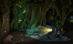 The Tree Root segment from Luigi's Mansion: Dark Moon.
