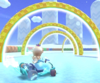 The icon of the Koopa Troopa Cup challenge from the Ice Tour and the Baby Mario Cup challenge from the Super Mario Kart Tour in Mario Kart Tour