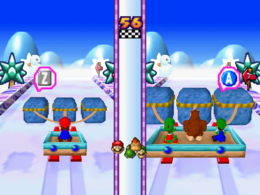 Thwomp Pull in the game Mario Party 3.