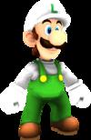 Rendered model of Fire Luigi in Super Mario Galaxy.
