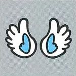 Artwork of a pair of Yoshi's Wings from Super Mario World