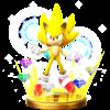 Super Sonic's trophy render, from Super Smash Bros. for Wii U.