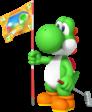 Yoshi artwork from Mario Golf: World Tour.
