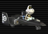 Dry Bones in the Blue Falcon on the character select screen