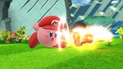Kirby with Mario's ability