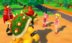 Bowser and Dr. Eggman confront Amy and Peach