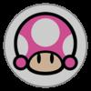 Toadette emblem from Mario Kart 8