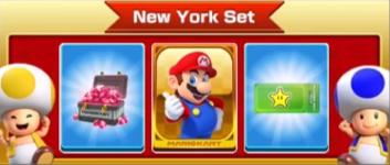 The New York Set of the New York Tour in Mario Kart Tour