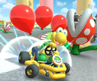 The icon of the Bowser Jr. Cup challenge from the Sunset Tour in Mario Kart Tour