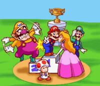Background splash image from Excitebike: Bun Bun Mario Battle Stadium.