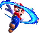 Artwork of Mario performing a Spin in Super Mario Galaxy