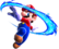 Artwork of Mario performing a Spin in Super Mario Galaxy