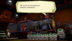 Toad Trainworks from Paper Mario: Color Splash