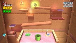 Hidden Luigi seen during the ball-guiding puzzle in Super Mario 3D World.