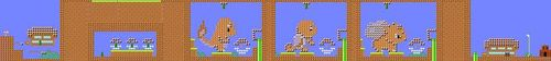 Layout of I Choose You! in Super Mario Maker.