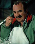 Bob Hoskins as Mario in the Super Mario Bros. Movie.