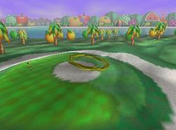Doughnut Hole, a Ring Shot challenge in Yoshi's Island from Mario Golf