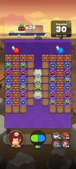 Stage 235 from Dr. Mario World