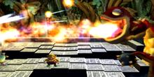 Wario facing off against Dual Dragon in Wario World