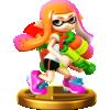 Inkling trophy from Super Smash Bros. for Wii U