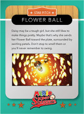 Level 2 Flower Ball card from the Mario Super Sluggers card game