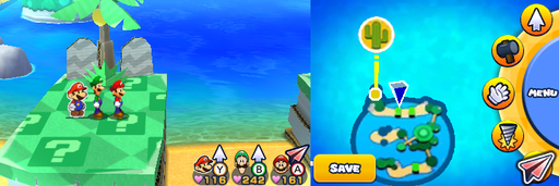 Location of the second and last item patch in Twinsy Tropics.