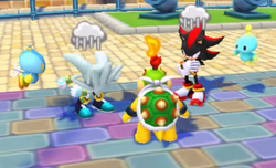 Shadow and Silver are dejected at losing to Bowser Jr.