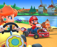The icon of the Lakitu Cup challenge from the Jungle Tour in Mario Kart Tour.