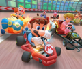 The icon of the Peachette Cup Challenge from the Summer Festival Tour of Mario Kart Tour