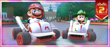 """The """"A 2nd Anniversary Tour Celebration! Cleanup Hitter!"""" Pack from the 2nd Anniversary Tour in Mario Kart Tour"""