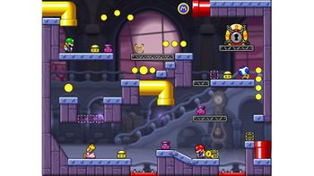 Miiverse screenshot of the 75th official level in the online community of Mario vs. Donkey Kong: Tipping Stars