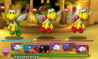 Screenshot of World 3-2, from Puzzle & Dragons: Super Mario Bros. Edition.