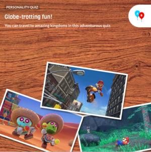 The icon for Super Mario Odyssey Fun Personality Quiz