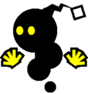 Sprite of a Yellow Magiblot from Super Paper Mario.
