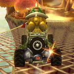 Bowser performing a Trick in Mario Kart Wii