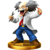 Dr. Wily trophy from Super Smash Bros. for Wii U