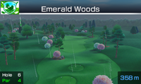 Hole 6 of Emerald Woods from Mario Sports Superstars