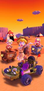 The Sunset Tour from Mario Kart Tour.