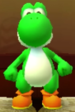 Yoshi as viewed in the Character Museum from Mario Party: Star Rush
