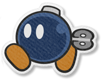 Artwork of Bob-omb from Paper Mario: The Origami King