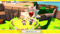 MAX UP Heart +20 from Heart Island in Paper Mario: The Origami King