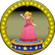 A figure with Princess Peach on it.
