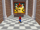 Mario entering Bowser in the Sky