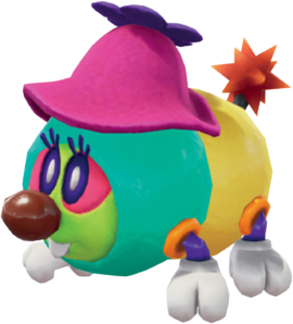 A Tropical Wiggler in Super Mario Odyssey