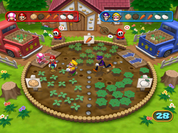 BabyLuigiOnFire and the uploader playing Bumper Crop from Mario Party 7 against the CPU
