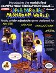 Promotional flyer for Super Mario Bros. Mushroom World