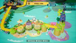 Hidden Hills, the secret final world of Yoshi's Crafted World.