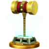 Golden Hammer's trophy render from Super Smash Bros. for Wii U
