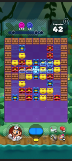 Stage 353 from Dr. Mario World